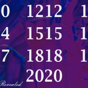 NUMEROLOGY ANGEL NUMBERS - 1010, 1212, 1313, 1414, 1515, 1616, 1717, 1818, 1919, 2020